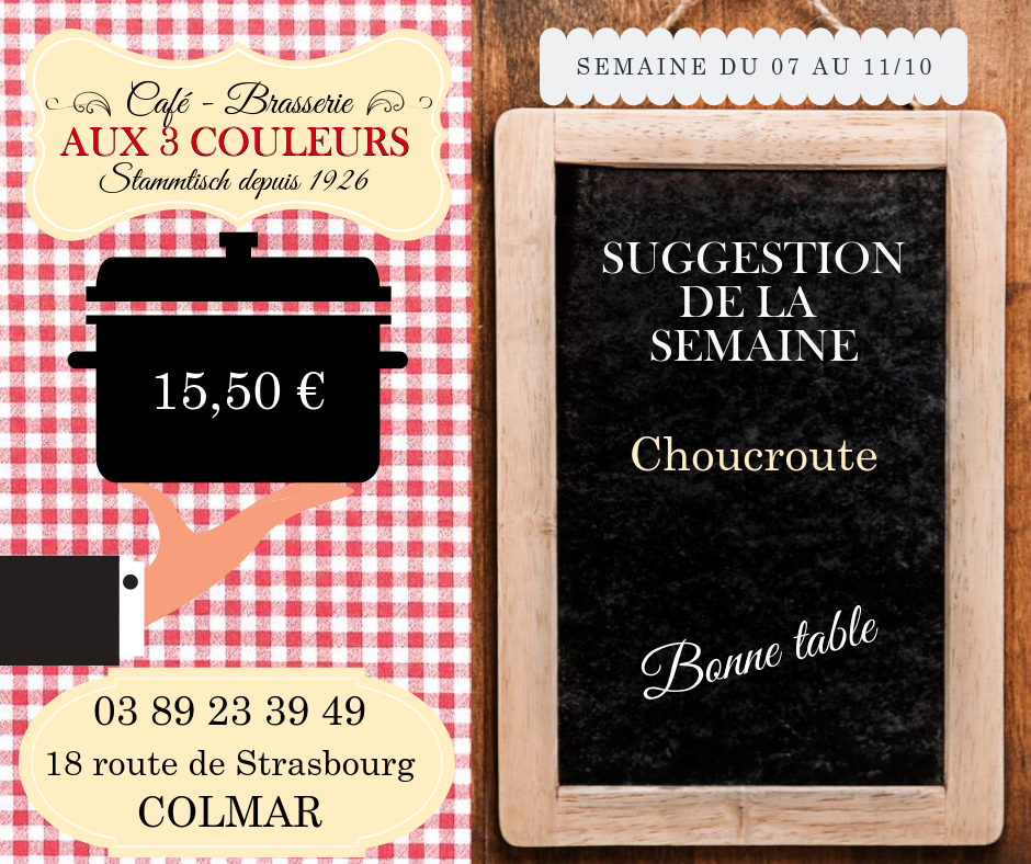 brasserie-suggestion-semaine-restaurant-colmar